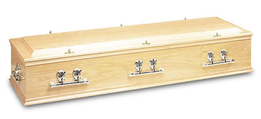 Pembroke Veneer wood Coffin