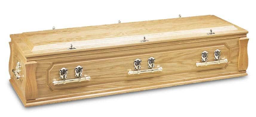 solid wood casket