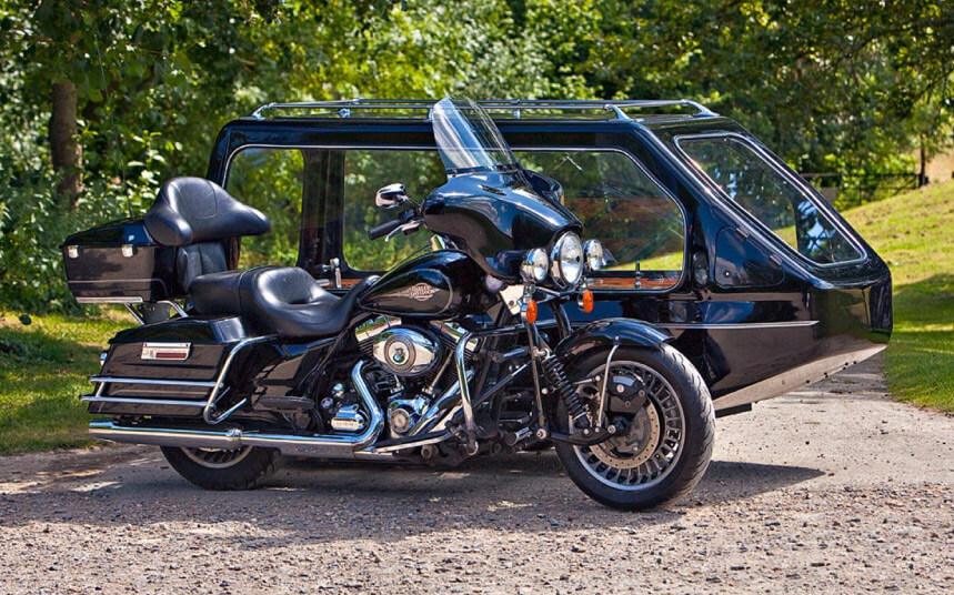 harley davidson motorcycle hearse