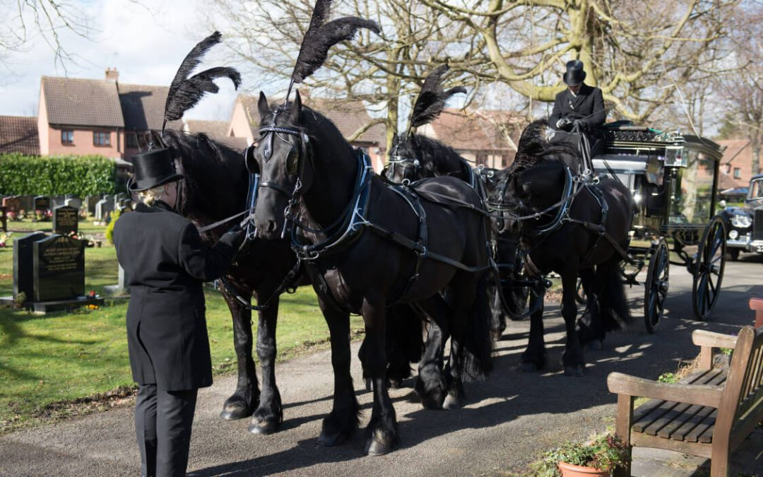 Keeping tradition with the horse drawn hearse
