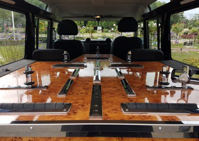 land rover hearse interior