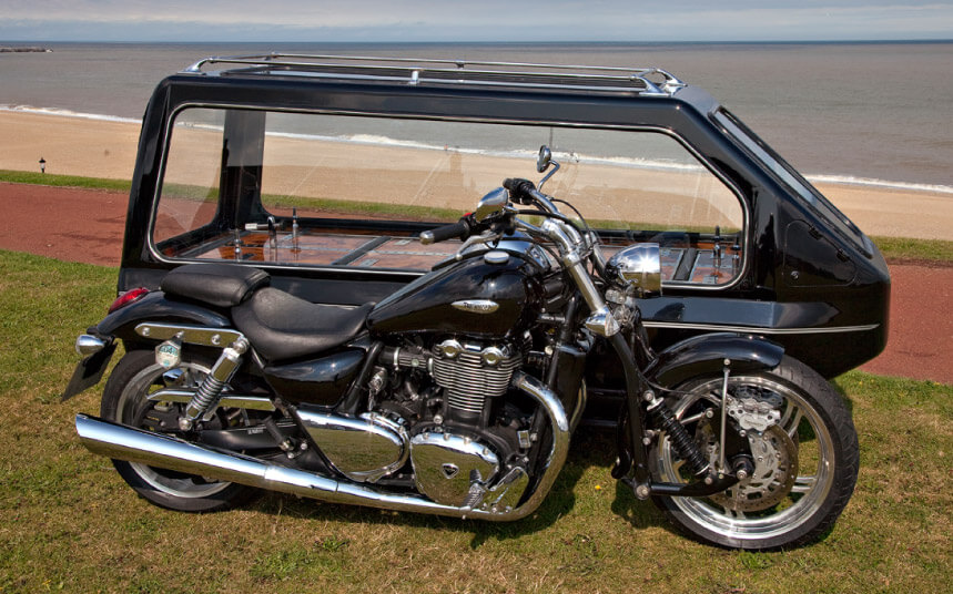 triumph thunderbird motorcycle hearse