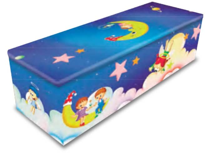 color baby coffin - bennets funeral directors