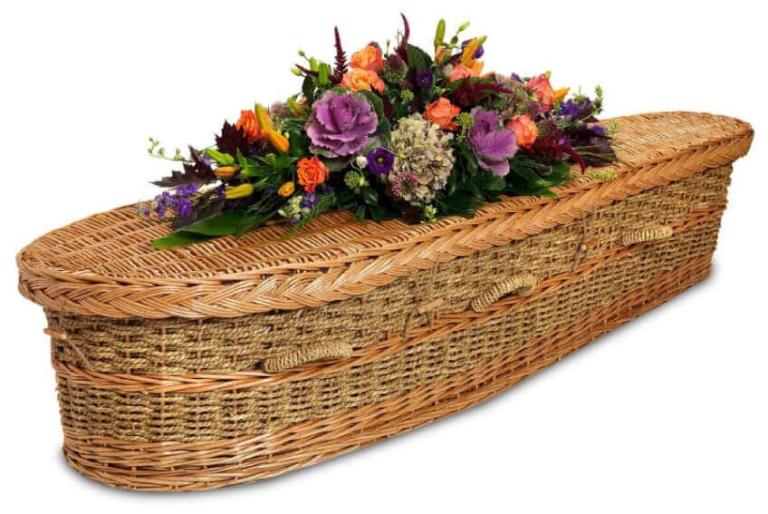 Wicker and willow coffin