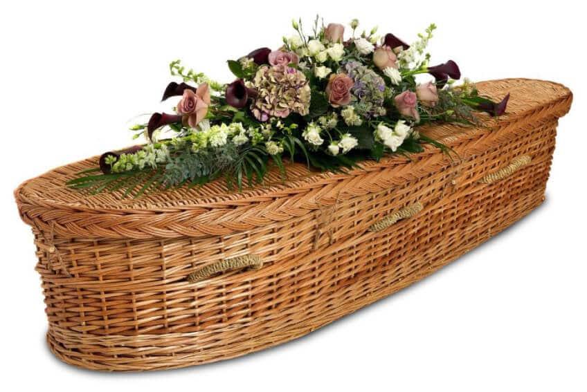 wicker casket