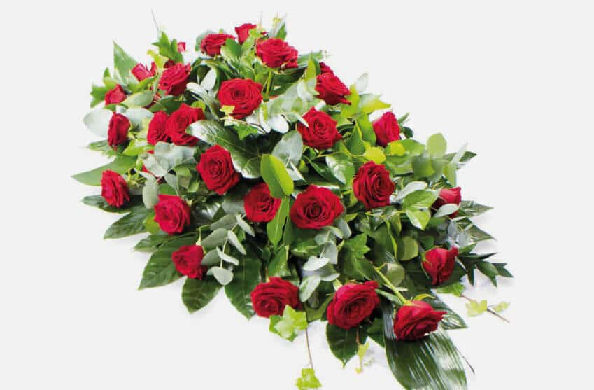 Coffin and Casket Funeral Flowers and Sprays