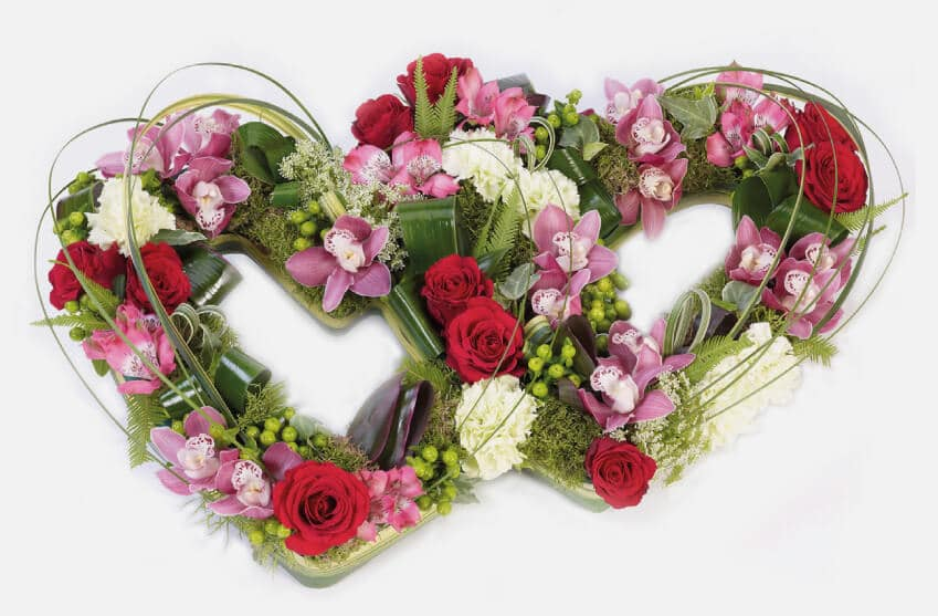 Floral heart tribute funeral flowers