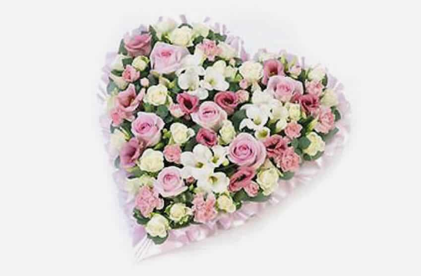 Pink Funeral floral heart
