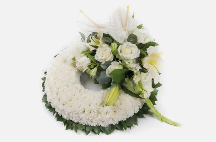 Floral Funeral Wreaths made with the freshest flowers