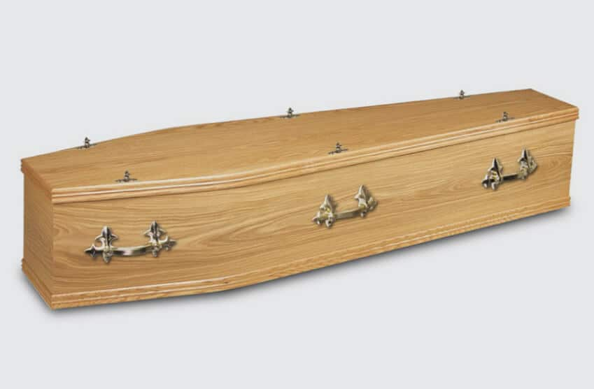 Solid timber coffin