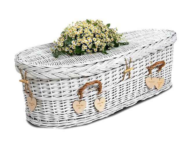 baby coffin white