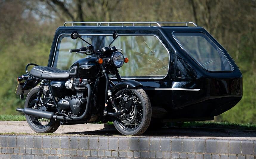 bonneville motorcycle hearse
