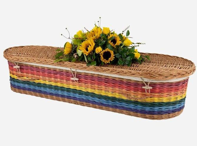 childs rainbow coffin