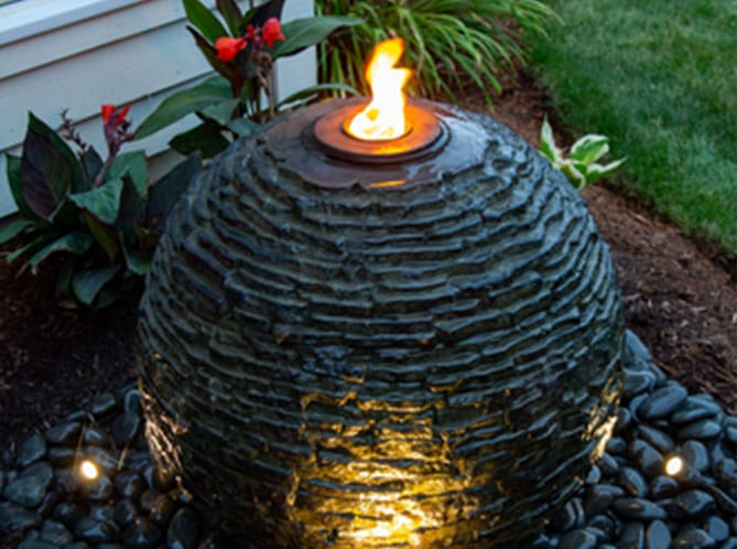 Garden flame slate urn bennetts