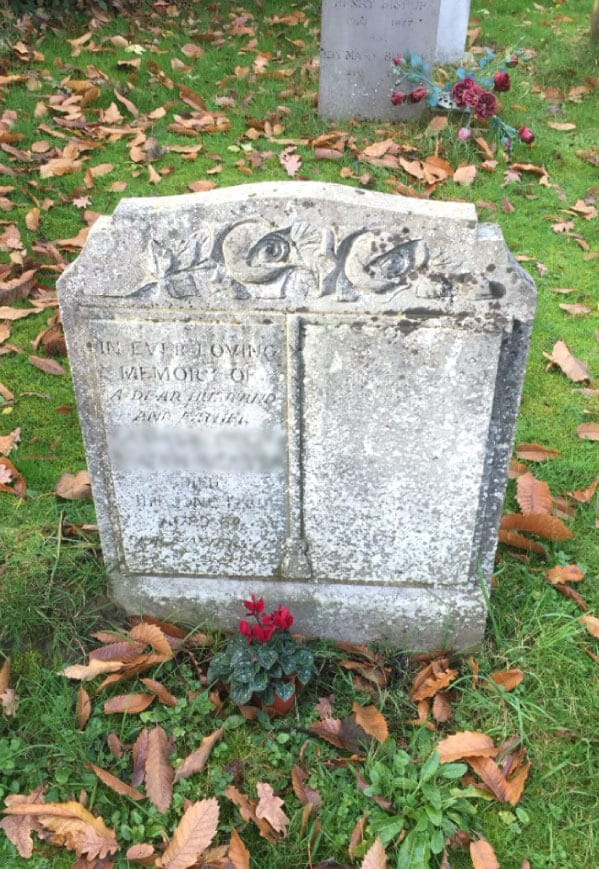 old memorial stone